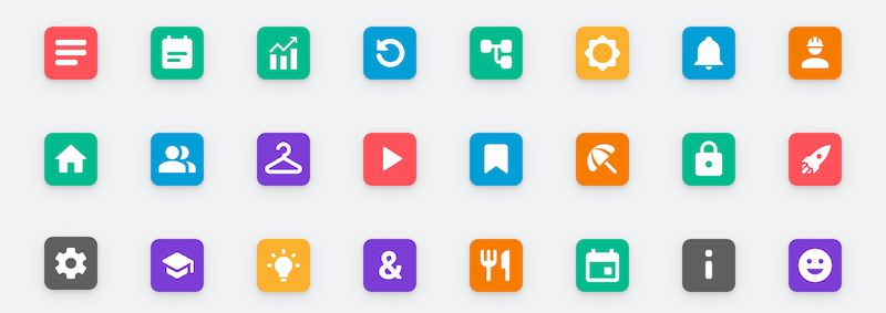 more tab icons